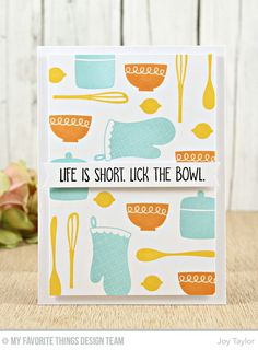 Kitschy Kitchen Card Kit - Joy Taylor  #mftstamps