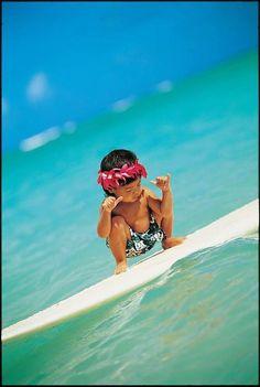 Shaka!  Start em young! Aloha ♥