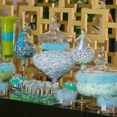 Oh Boy - verde y azul de la ducha del bebé, té de la tarde
