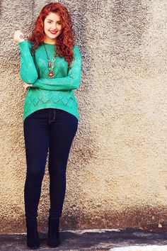 Cabelos Cacheados, Beleza e Looks Casual Looks, Redheads, Outfits, Clothes, Style, Fashion, Ringlets Hair, Beleza, Outfit