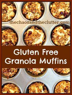 ---------------------------------------------------------------------------------------------------------------Gluten Free Granola Muffins