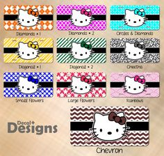 Hello Kitty Personalized Licence Plates by HerreraDesigns2015