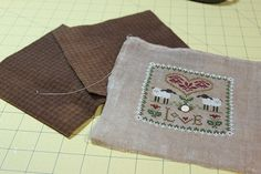 Learn to finish with the Twisted Stitcher: Little House Virtues Woolen Pillows...