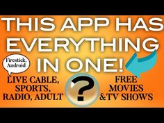 📺THIS APP IS INCREDIBLE📺 IT HAS EVERYTHING⬇️ FREE MOVIES & TV SHOWS, LIVE CABLE TONS OF CHANNELS - YouTube