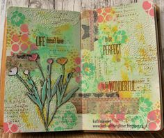 Kath's Blog......diary of the everyday life of a crafter: Simon Says...Stencil It; Jun 2017 #timholtz #rangerink #sizzix #stampersanonymous #distressoxides #kathystewart #artjournal #journalpage