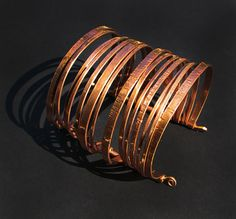Copper Cuff Bracelet - Layered Bangles Bracelet - Nomad Gypsy - Handmade by me and each is ooak  - Unisex on Etsy, $71.86 CAD
