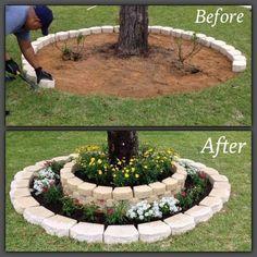 Lovely Diy Gardening Ideas More Easier - DIY Garten Landschaftsbau Diy Tree Rings, Diy Gardening, Organic Gardening, Vegetable Gardening, Gardening Gloves, Flower Gardening, Container Gardening, Greenhouse Gardening, Gardening Supplies