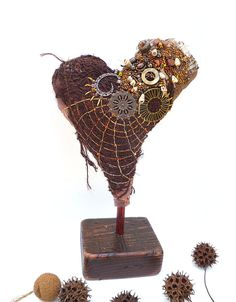 Heart II fiber art soft sculpture by Cesart64 on Etsy, $109.00