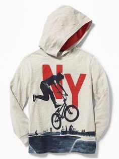 Old Navy Graphic Pullover Hoodie for Boys Boys Hoodies, Boys Shirts, Mens Sweatshirts, Tee Shirts, Shirt Print Design, Tee Shirt Designs, Kids Fashion Boy, Poses, Kids Outfits