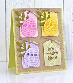 You're Eggstra Special Card by Michelle Leone for Papertrey Ink (February Celebration Day, Christian Cards, Easter Religious, Gift Tags, Cardmaking, Anniversary, Crafty, Handmade Cards, February