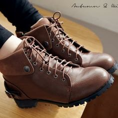 Buy 'BAIMOMO – Lace-Up Cuffed Boots' with Free International Shipping at YesStyle.com. Browse and shop for thousands of Asian fashion items from Taiwan and more!