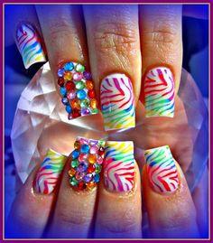 Rainbow Brightness by stephaniemercer - Nail Art Gallery nailartgallery.nailsmag.com by Nails Magazine www.nailsmag.com #nailart
