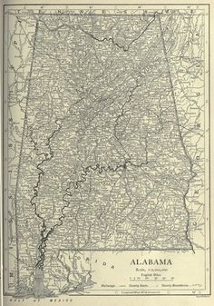 Alabama The Cotton State US State Map Shapes Pinterest - Map of alabama cities and towns