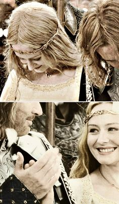 Faramir & Eowyn, wish the movie would have covered them falling in love or at least done more to show they'd became a couple