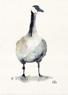 Goose Fine Art print of my original Illustration by BurnsidesManor, $8.00