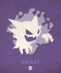 Pokemon Types Poster Series: Part 1 - Created by Timmy Burrows Available for sale at his Shop. You can check out Part 2 here. Haunter Pokemon, Pokemon Oc, Pokemon Pins, Pokemon Memes, Cute Pokemon, Pokemon Stuff, Pokemon Fusion, Ghost Type Pokemon, Pokemon Poster