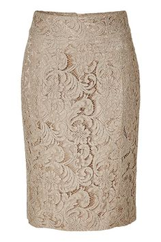 Burberry Nude Lace Skirt - The lace is a great detail. I love the simple neutral with the bold lace. Estilo Fashion, Love Fashion, Luxury Fashion, Womens Fashion, Skirt Fashion, Fashion Shoes, Pink Beige, Modelos Fashion, Passion For Fashion