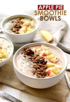 Apple Smoothie Bowls #healthyeating