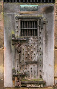#Writing inspiration: What waits behind this door? (Warwick, England...the old gaol door)