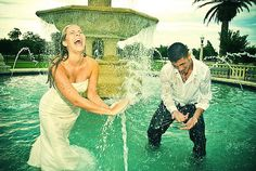 Trash the Dress - water