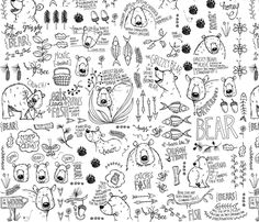 More than I can Bear fabric by mulberry_tree on Spoonflower - custom fabric