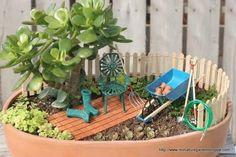 garden tools fairy garden