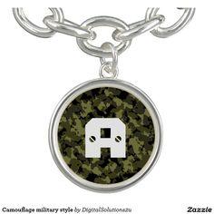 Camouflage military style bracelets