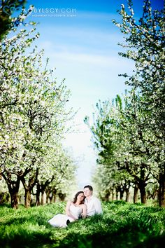 Incedible and beautifull spring wedding session in orchard