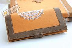 复古拼色水洗牛皮纸钱夹(有材料包,可定制)