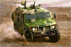 Soviet GAZ-233014 'Tiger' jeep in Afghanistan