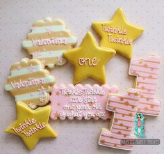 Twinkle twinkle little star, one year old is what you are ⭐️ #decoratedcookies…