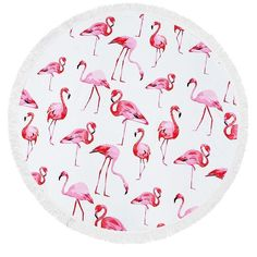"""Hoy lunes tenemos una nueva oportunidad de comenzar. Aprovéchala. Haz como tú sólo sabes! Toalla de flamenco de 60"""" de diámetro en mezcla de algodón. Pregunta por la tuya ya. Semana Santa 2017 está a la vuelta de la esquina.#toalla #towel #redonda #round #flamingo #flamencos  #algodon"""