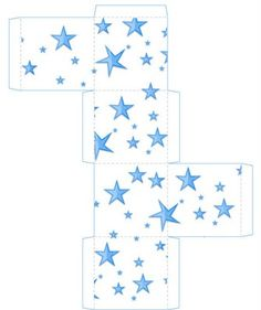 star gift box printable
