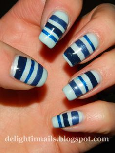Delight In Nails: Golden Oldie Thursday - Stripes!