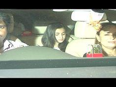 Alia Bhatt with family spotted at Hakkasan Restaurant, Mumbai.