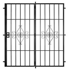 Unique Home Designs, Su Casa 72 in. x 80 in. Black Outswing Patio Security Door, SPD02020721054 at The Home Depot - Mobile