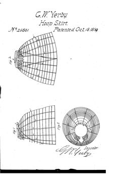 Patent Drawing - 1859 Hoop skirt patent