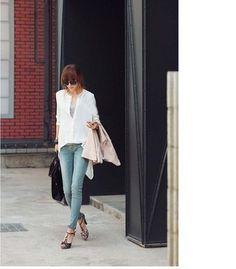 WHITE Mandarin Collar Stylish Button Shirt - $11.4 on @ClozetteCo