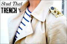 DIY Clothes Refashion: DIY Studded Trench Coat