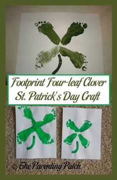 Four Leaf Clover St. Patrick & s Day Craft Imprint Four Leaf Clover St. Patrick & s Day Craft,Imprint Four Leaf Clover St. Patrick & s Day Craft, Make super fun and adorably cute Handprint Christmas Tree. March Crafts, St Patrick's Day Crafts, Daycare Crafts, Classroom Crafts, Crafts To Do, Preschool Crafts, Holiday Crafts, Daycare Rooms, Kindergarten Crafts