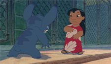 hug feel better cartoons & comics hugging lilo and stitch