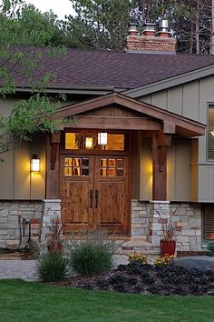 Front porch ideas for split level house