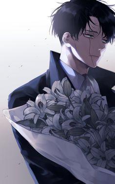 Attack On Titan Fanart, Attack On Titan Levi, Handsome Anime Guys, Cute Anime Guys, Fanarts Anime, Manga Anime, Manga Art, Manhwa, Levi Mikasa