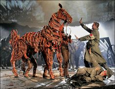 It is an image that has become the symbol of a bestselling book, an award-winning theatrical blockbuster and soon a film by Steven Spielberg. Every year, fans of War Horse, Michael Morpurgo's tale Peter Hermann, Michael Morpurgo, Carousel Horses, Stage Design, Theatre Design, Show Horses, War Horses, Show Photos, Art Forms