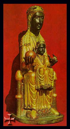 Our Lady of Montserrat; a miracle-working statue of Madonna and child. The statue has always been considered one of the most celebrated images in Spain. Spiritual Images, Religious Images, Religious Icons, Divine Mother, Mother Mary, Mother Goddess, Montserrat Barcelona, Statues, Christian Artwork