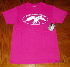 Duck Commander Logo Shirt T Shirt Authentic Dynasty Heliconia Hot Pink s New | eBay