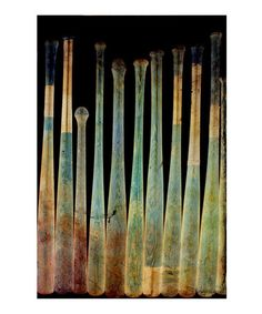 Baseball Bat X-Ray Art Print by Oliver Gal on #zulily