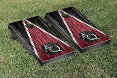 Aquinas College Saints Reclaimed Wood w/ Triangle Bag Toss Game Set