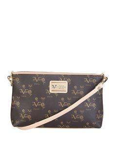 Versace 1969 abbigliamento sportivo srl milano italia - borsa tracolla - materiale: eco - pelle - un manico - chiusura c - Borsa a tracolla donna  Marrone