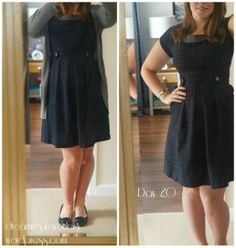 Day 2- me made wool dress - pre blog  but click to see on burdastyle